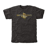 Houston Rockets Gold Collection Tri-Blend T-Shirt Black