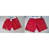 Houston Rockets Red Throwback NBA Shorts