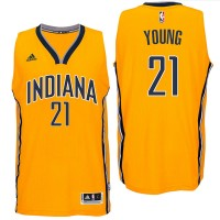 Indiana Pacers #21 Thaddeus Young 2016 Alternate Gold New Swingman Jersey