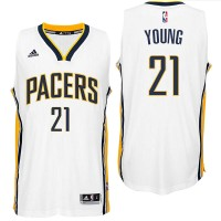 Indiana Pacers #21 Thaddeus Young 2016 Home White New Swingman Jersey