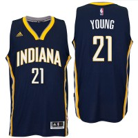 Indiana Pacers #21 Thaddeus Young 2016 Road Navy New Swingman Jersey