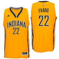 Indiana Pacers #22 Jeremy Evans 2016 Alternate Gold New Swingman Jersey