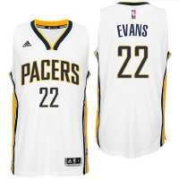 Indiana Pacers #22 Jeremy Evans 2016 Home White New Swingman Jersey