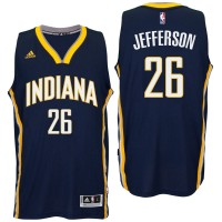 Indiana Pacers #26 Al Jefferson 2016 Road Navy New Swingman Jersey