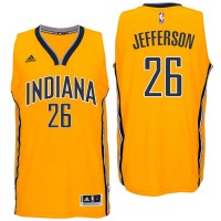 Indiana Pacers #26 Al Jefferson Alternate Gold New Swingman Jersey
