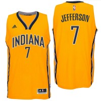 Indiana Pacers #7 Al Jefferson 2016 Alternate Gold New Swingman Jersey