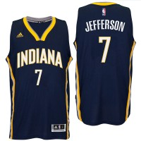 Indiana Pacers #7 Al Jefferson 2016 Road Navy New Swingman Jersey