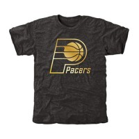 Indiana Pacers Gold Collection Tri-Blend T-Shirt Black