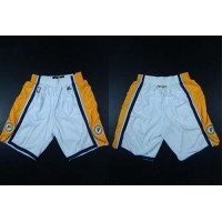 Indiana Pacers White NBA Shorts
