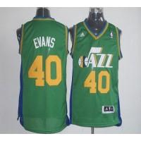 Jazz #40 Jeremy Evans Green Revolution 30 Stitched NBA Jersey