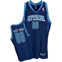 Jazz Personalized Authentic Blue NBA Jersey (S-3XL)
