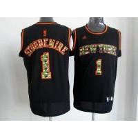 Knicks #1 Amare Stoudemire Black Camo Fashion Stitched NBA Jersey
