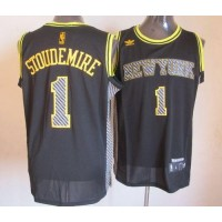 Knicks #1 Amare Stoudemire Black Electricity Fashion Stitched NBA Jersey
