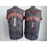 Knicks #1 Amare Stoudemire Black Rhythm Fashion Stitched NBA Jersey