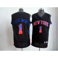 Knicks #1 Amare Stoudemire Black Stitched NBA Vibe Jersey
