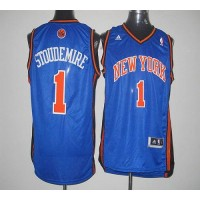 Knicks #1 Amare Stoudemire Blue Revolution 30 Stitched NBA Jersey