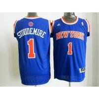 Knicks #1 Amare Stoudemire Blue Road New 2012-13 Season Stitched NBA Jersey
