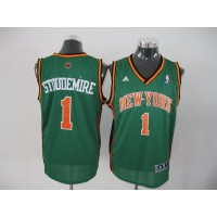 Knicks #1 Amare Stoudemire Green Stitched NBA Jersey