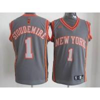 Knicks #1 Amare Stoudemire Grey Graystone Fashion Stitched NBA Jersey
