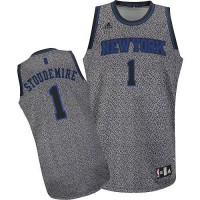 Knicks #1 Amare Stoudemire Grey Static Fashion Stitched NBA Jersey