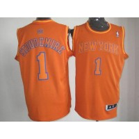 Knicks #1 Amare Stoudemire Orange Big Color Fashion Stitched NBA Jersey