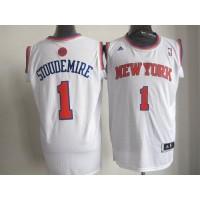 Knicks #1 Amare Stoudemire White Home New 2012-13 Season Stitched NBA Jersey
