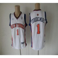 Knicks #1 Amare Stoudemire White Revolution 30 Stitched NBA Jersey