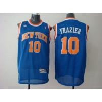 Knicks #10 Walt Frazier Blue Stitched NBA Jersey
