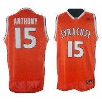 Knicks #15 Carmelo Anthony Orange Syracuse College Stitched NBA Jersey