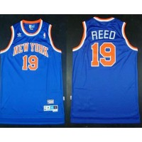 Knicks #19 Willis Reed Blue Throwback Stitched NBA Jersey