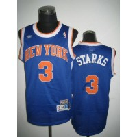 Knicks #3 John Starks Blue Throwback Stitched NBA Jersey