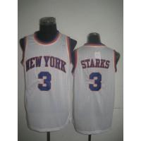 Knicks #3 John Starks White Throwback Stitched NBA Jersey