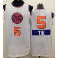 Knicks #5 Tim Hardaway White 2014-15 Christmas Day Stitched NBA Jersey