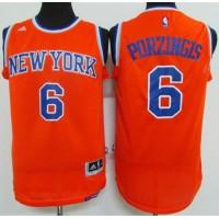 Knicks #6 Kristaps Porzingis Orange Stitched Youth NBA Jersey