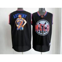 Knicks #7 Carmelo Anthony Black Notorious Stitched NBA Jersey