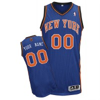 Knicks Personalized Authentic Blue NBA Jersey (S-3XL)