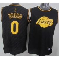 Lakers #0 Nick Young Black Precious Metals Fashion Stitched NBA Jersey