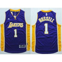 Lakers #1 D'Angelo Russell Purple Stitched NBA Jersey