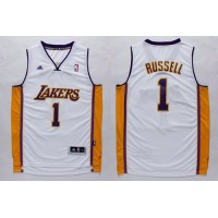 Lakers #1 D'Angelo Russell White Stitched NBA Jersey