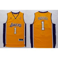 Lakers #1 D'Angelo Russell Yellow Stitched NBA Jersey
