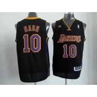 Lakers #10 Steve Nash Black(Purple NO.) Stitched NBA Jersey