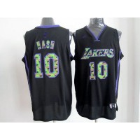 Lakers #10 Steve Nash Black Camo Fashion Stitched NBA Jersey