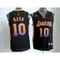 Lakers #10 Steve Nash Black Stitched NBA Vibe Jersey