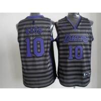 Lakers #10 Steve Nash BlackGrey Groove Stitched NBA Jersey