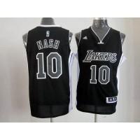 Lakers #10 Steve Nash BlackWhite Stitched NBA Jersey
