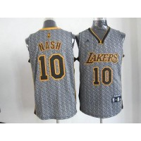 Lakers #10 Steve Nash Grey Static Fashion Stitched NBA Jersey
