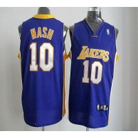 Lakers #10 Steve Nash Purple Road Revolution 30 Stitched NBA Jersey
