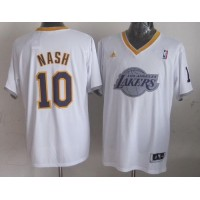 Lakers #10 Steve Nash White 2013 Christmas Day Swingman Stitched NBA Jersey