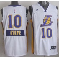 Lakers #10 Steve Nash White 2014-15 Christmas Day Stitched NBA Jersey