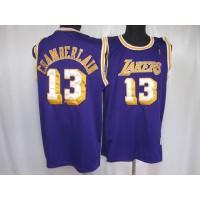 Lakers #13 Wilt Chamberlain Stitched Purple Throwback NBA Jersey